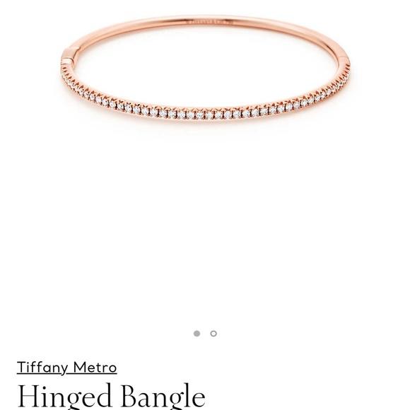 303158b08 Tiffany & Co. Jewelry | Tiffany Diamond Metro Hinged Bangle Bracelet ...